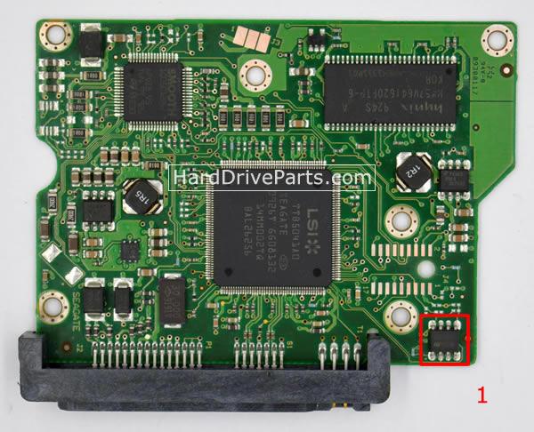 100468303 HDDのPCB(制御基板) Seagate製ST3250310CSの基板交換