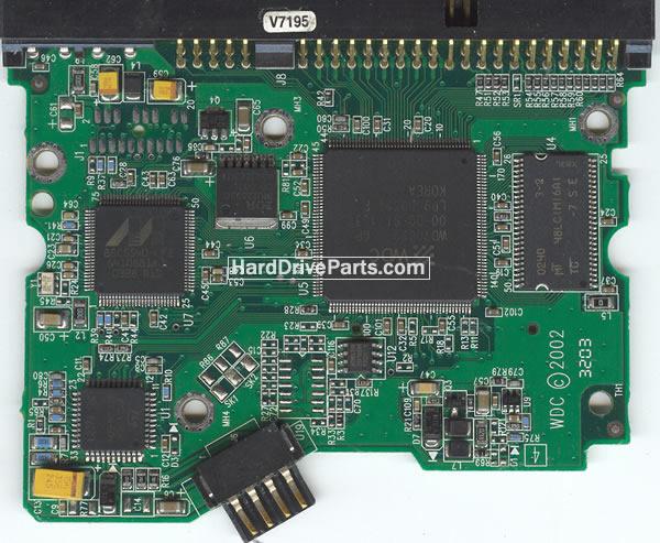 2060-001159-006 HDDのPCB(制御基板) WD製WD400EBの基板交換
