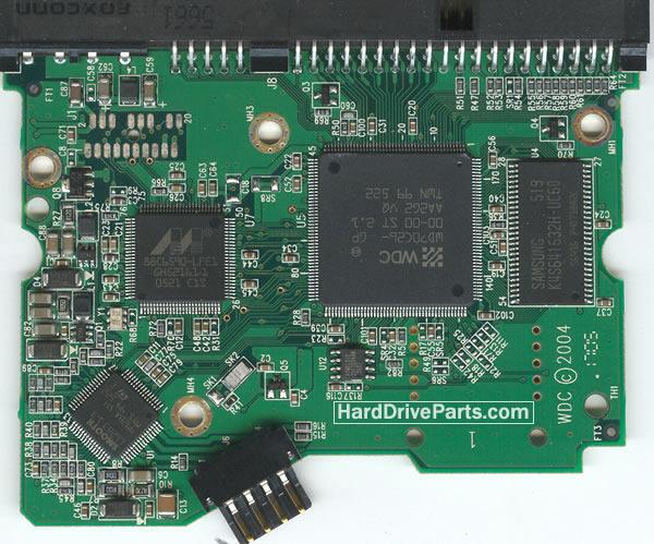 2060-701266-001 HDDのPCB(制御基板) WD製WD2000BBの基板交換