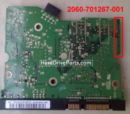 2060-701267-001 HDDのPCB(制御基板) WD製WD2500SDの基板交換