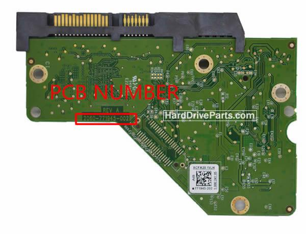 2060-771945-002 Western Digital(ウェスタンデジタル)基盤HDDのPCBハードドライブ基板HDD制御基板
